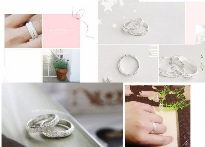 Latest Fashion Fortunately Life Is Simple Frosted Ring Convention Jewelry Factory Direct 1pcs Rings silver one size