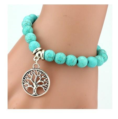 IFeel 2017Love Turquoise Charm Bracelet Femme Bohemian Vintage Bracelets & Bangles For Women Jewelry Tree one size