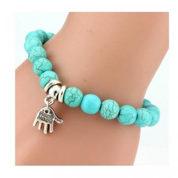 IFeel 2017Love Turquoise Charm Bracelet Femme Bohemian Vintage Bracelets & Bangles For Women Jewelry Hand one size