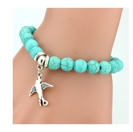 IFeel 2017Love Turquoise Charm Bracelet Femme Bohemian Vintage Bracelets & Bangles For Women Jewelry Peace Dove one size