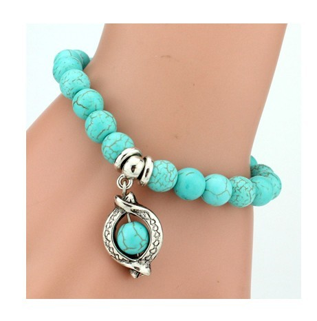 IFeel 2017Love Turquoise Charm Bracelet Femme Bohemian Vintage Bracelets & Bangles For Women Jewelry Turquoise one size
