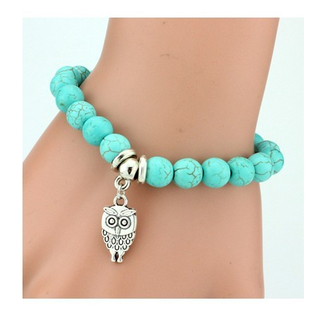 IFeel 2017Love Turquoise Charm Bracelet Femme Bohemian Vintage Bracelets & Bangles For Women Jewelry Owl one size