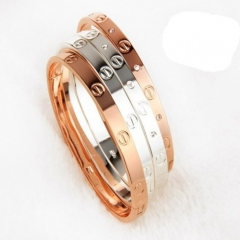 Trendy Rose Bracelet for Women Bangle Lover Bracelet Jewelry Titanium Love Bracelet Bangle Pulseiras gold one size