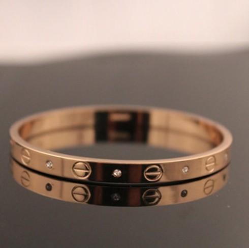 Trendy Rose Bracelet for Women Bangle Lover Bracelet Jewelry Titanium Love Bracelet Bangle Pulseiras gold rose one size