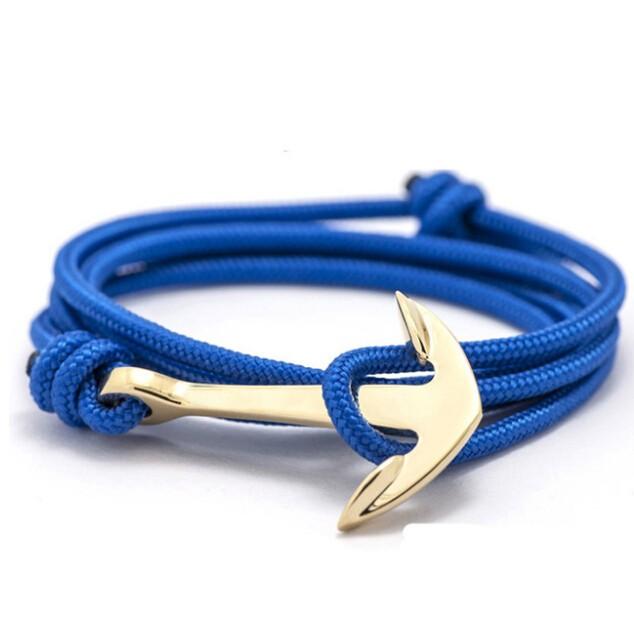 IFeel Alloy Anchor Bracelet Multilayer Leather Risers Bracelet for Women&Men Friendship photo3 one size