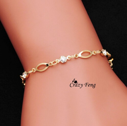 IFeel Jewelry Fashion Wholesale Gold Plated Crystal friendship bracelets for women gift gold As picture