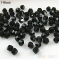 IFeel Jewellery 30pcs loose glass crystal bicone spacer beads 4mm Clear Black Green Blue  pick Color Black 4mm