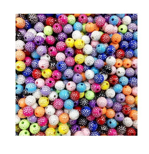 IFeel Sale 30 piece/lot 8mm Bright Shiny Round Acrylic Loose Spacer DIY Beads For Jewelry making mix colors 8MM