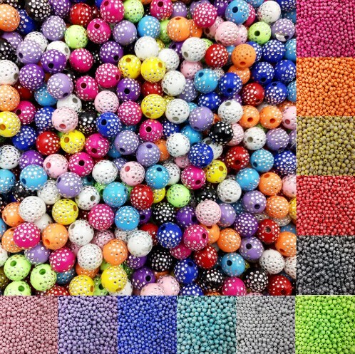 IFeel Sale 30 piece/lot 8mm Bright Shiny Round Acrylic Loose Spacer DIY Beads For Jewelry making white 8MM