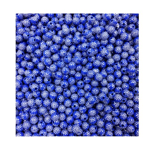 IFeel Sale 30 piece/lot 8mm Bright Shiny Round Acrylic Loose Spacer DIY Beads For Jewelry making blue 8MM