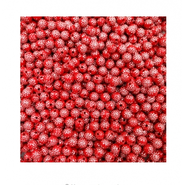 IFeel Sale 30 piece/lot 8mm Bright Shiny Round Acrylic Loose Spacer DIY Beads For Jewelry making Red 8MM