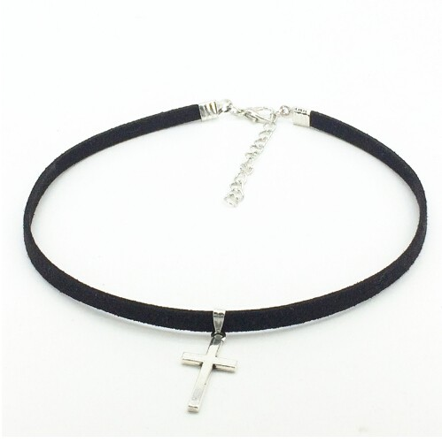 Hot Retro cross necklace pendants Maxi statement Necklace Chokers Necklace torques for women jewelry gold one size
