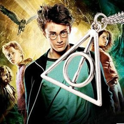 IFeel Europe necklace Luna Cinema Harry Potter Harry Potter and the Deathly Hallows triangle pendant gold one size