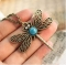IFeel Vintage Hollow Dragonfly Pendants Necklace Women Antique Plated Accessories Collares Jewellery gold 70cm