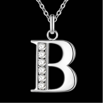 IFeel Jewellery Letter A-Z silver plated Necklace, Stamp 925 fashion silver jewelry Fashion Pendant photo color 2 one size