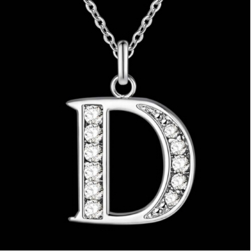 IFeel Jewellery Letter A-Z silver plated Necklace, Stamp 925 fashion silver jewelry Fashion Pendant photo color 4 one size