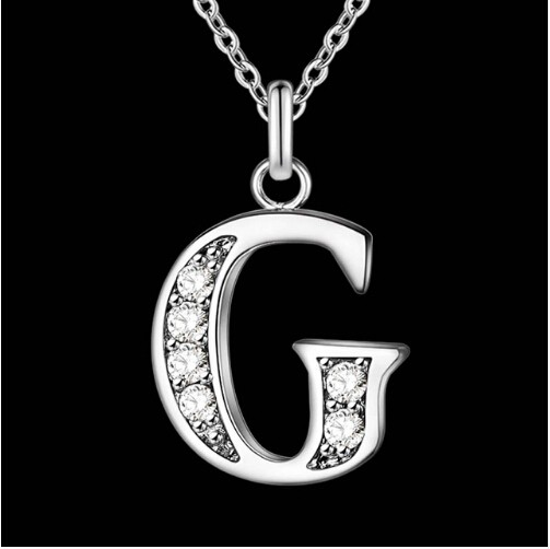 IFeel Jewellery Letter A-Z silver plated Necklace, Stamp 925 fashion silver jewelry Fashion Pendant photo color 7 one size