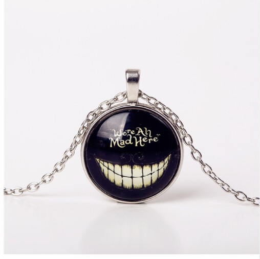 Jewellery Men Shadow Style Glass Cabochon Chain Statement Pendant Necklaces Glow In Dark Nightlight photo color 5 50cm