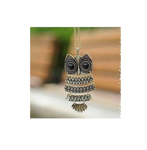 Vintage New Fashion Hot-Selling Woman necklaces & pendants Women Sweater Chain Gifts girls Colar brown one size