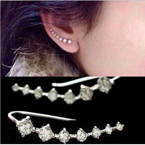 New fashion Seven stars Trendy Jewellery Beautifully row Accessories line type Earrings for women gold one size