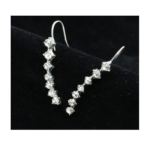 New fashion Seven stars Trendy Jewellery Beautifully row Accessories line type Earrings for women silver one size