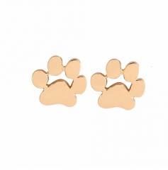 IFeel Jewellery New Fashion Cute Paw Print Earrings for Women Cat and Dog Paw Stud Earrings gold one size