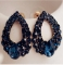 new Natural Sapphire fashion earrings jewellery Brincos earrings For girls summer style pendientes deep blue one size