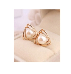 IFeel Jewellery sweet and romantic and lovely and generous temperament imitation pearl earrings gold one size