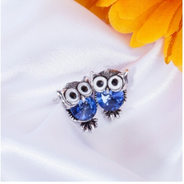 IFeel New Design Crystal Women Charms Owl Stud Earrings Cute Jewellery Plated Trendy For Wedding photo color 6 one size