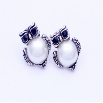 IFeel New Design Crystal Women Charms Owl Stud Earrings Cute Jewellery Plated Trendy For Wedding photo color  3 one size