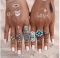 Jewellery 9Pcs/ turquoise Bohemian Ring Set Vintage Steampunk Cross flowers Anillos Rings for Women silver one size