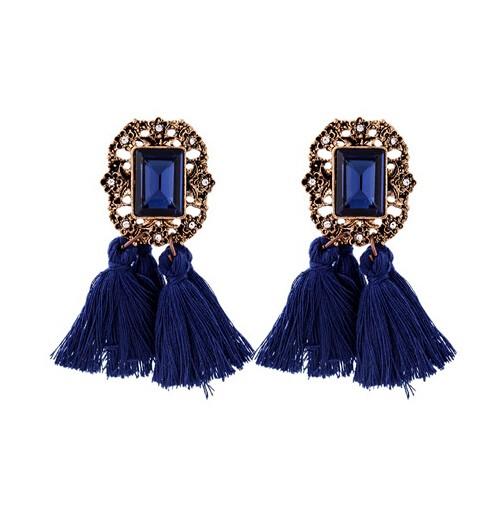 New Jewellery Vintage Crystal Tassel Dangle Earrings Brincos Pendiente Earrings For Women Gift photo color 1 one size