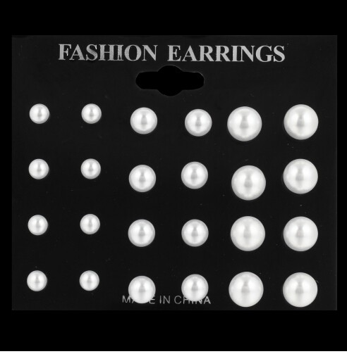 IFeel 12 pairs/ set Simulated Pearl Earrings For Women Jewellery Bijoux Brincos Pendientes Mujer white one size