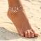 Vintage Antique Anklet Women Big Blue Stone Beads Bohemian Ankle Bracelet cheville Boho Foot Jewelry silver Anklet *1
