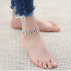 Anklets for Women Bracelet Bohemian Flower chaine cheville barefoot sandals halhal Foot Jewelry silver Anklet *1
