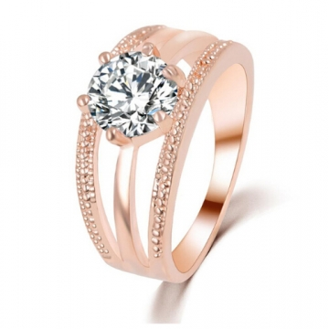 IFeel Crystals Ring anelli Flower Ring bague Engagement anillos anel Rings for Women wedding ring Rose Gold 8