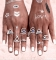 Ring Set Punk Bohemian Midi Rings for Women Tibetan Anillos Ring Knuckle Rings for Women Anel silver one size