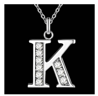 IFeel Jewellery Letter A-Z silver plated Necklace, Stamp 925 fashion silver jewelry Fashion Pendant photo color 11 one size