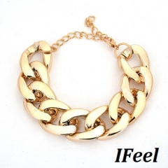 IFeel 1 PCS Fashion simple thick chain with a chain one size Women jewelry black one size