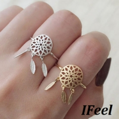 IFeel 1 PCS Fashion dream catcher's ring one size Women jewelry gold rings*1