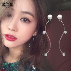 IFeel 1 PCS Fashion simple S curve long style earrings one size Women jewelry plastic gold one size