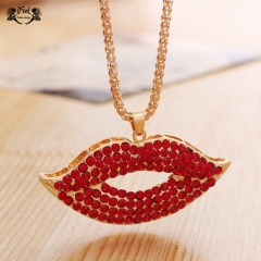 IFeel jewellery 1 Piece/Set New Fashion Fiery Lips Red Lips Necklace For Women Jewellery Gift as picture necklace*1