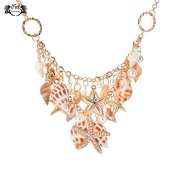 IFeel Jewellery 1 Piece/Set New Popular beach shellfish Women Necklace gold 43+6cm