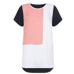 New Fashion Beautiful 5 color S-6XL hollow out O-neck chiffon shirt tank top style 2 XXXXXXL