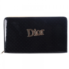 Dior Classic Women Wallet black 20*9*2 cm