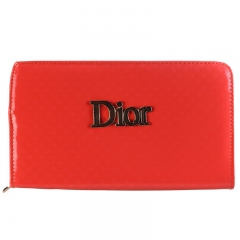 Dior Classic Women Wallet orange 20*9*2 cm