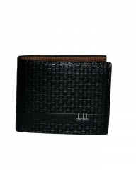Wallet for men black 11.5cm*9.5cm*2mm