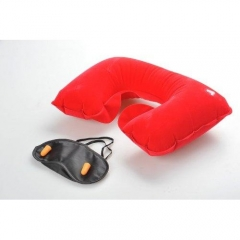 Travel Pillow Set red one size