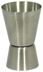 Stainless Steel Double Tot Measure Silver one size