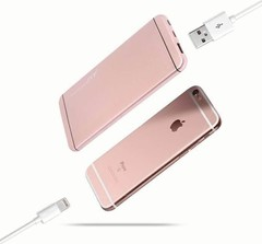 Power Bank 10,000 mAh Super Slim Design With Polymer Fast Charging Battery Rose Gold 10000
